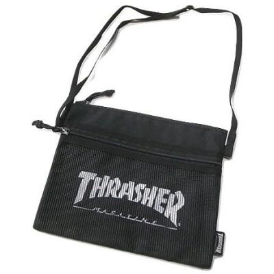 THRASHER スラッシャー THRSG114 サコッシュ バッグ 黒x白 ブラックxホワイト