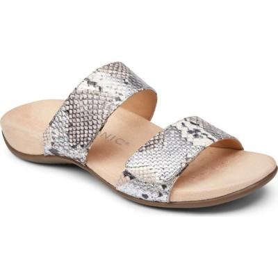 バイオニック VIONIC レディース サンダル・ミュール スライドサンダル シューズ・靴 Randi Slide Sandal Silver Leather