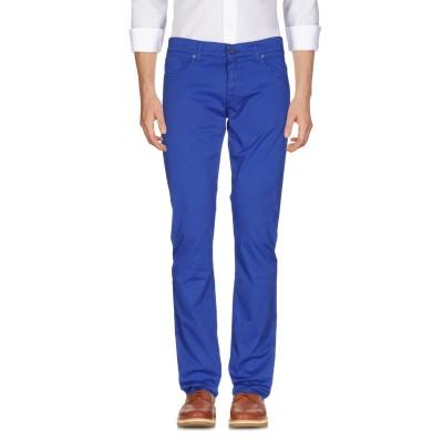 ビッケンバーグ BIKKEMBERGS パンツ ブルー 38 コットン 97% / ポリウレタン 3% パンツ