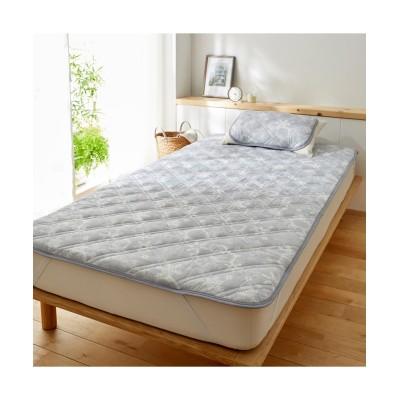 接触冷感敷きパッド(クリスタルスノー柄) 敷きパッド・敷パッド, ベッドパッド, Bed pats(ニッセン、nissen)