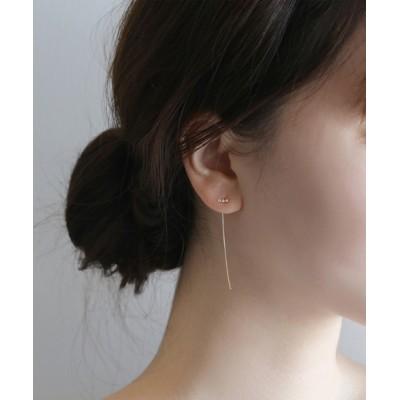 SIENA ROSE / AJOUTER・ピアス[3粒ダイヤ] WOMEN アクセサリー > ピアス(両耳用)