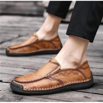 ローファー スリッポン メンズ ビジネスシューズ 革靴 紳士靴 防水 通勤 通学 防滑 軽量 スニーカー モカシン