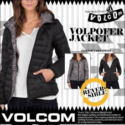 ボルコム ダウンジャケット  アウター レディース リバーシブル 黒 ブラック ボタニカル VOLCOM JUNIORS VOLPOFER JACKET VOLCOM B1531617