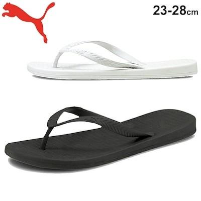 ビーチサンダル メンズ レディース シューズ/プーマ PUMA コンフィーフリップ/トングサンダル ブラック ホワイト 靴 くつ /375211