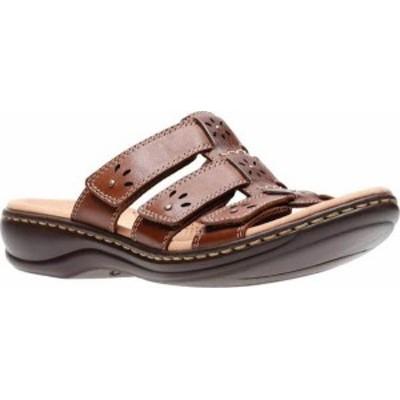 クラークス レディース サンダル シューズ Leisa Spring Strappy Sandal Brown Mult Full Grain Leather