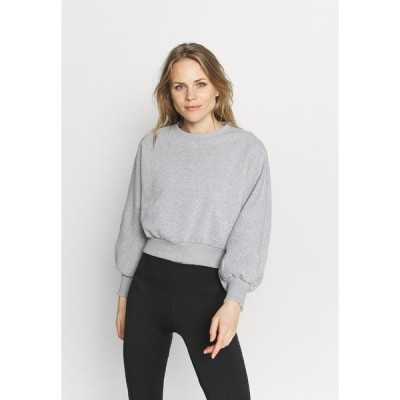 ヌー イン パーカー・スウェットシャツ レディース アウター BALLOON SLEEVE CROPPED - Sweatshirt - light grey