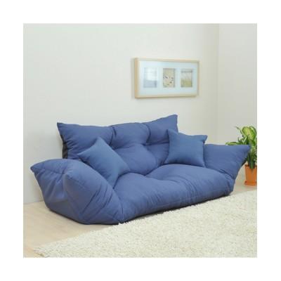 【日本製】ふっくらとした座り心地のリクライニングローソファー(クッション2個付き) ソファー, Sofas(ニッセン、nissen)