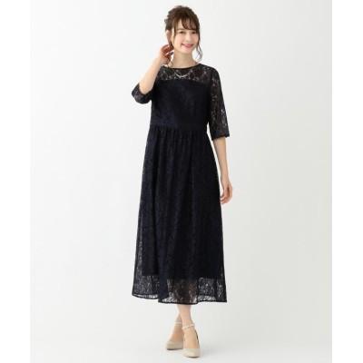【エニィスィス】 エアリレーシー ドレス レディース ネイビー 2 any SiS