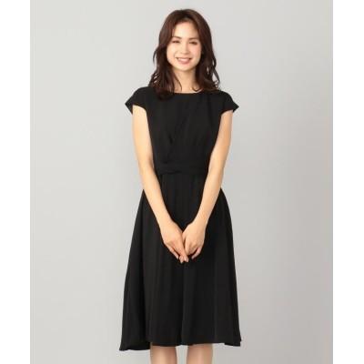 【エニィファム】 アシンメトリータック ドレス レディース ブラック系 1 anyFAM