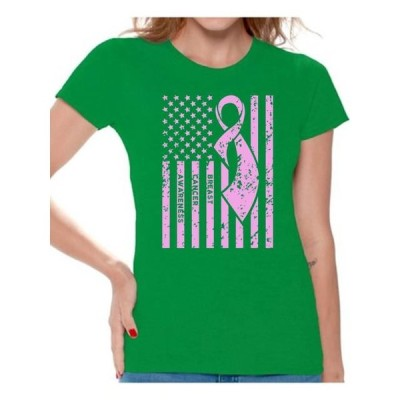 レディース 衣類 トップス Awkward Styles Women's Breast Cancer Awareness Graphic T-shirt Tops Pink Ribbon Tシャツ