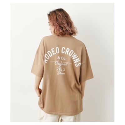 【ロデオクラウンズワイドボウル】 RCニットTシャツ レディース ベージュ FREE RODEO CROWNS WIDE BOWL