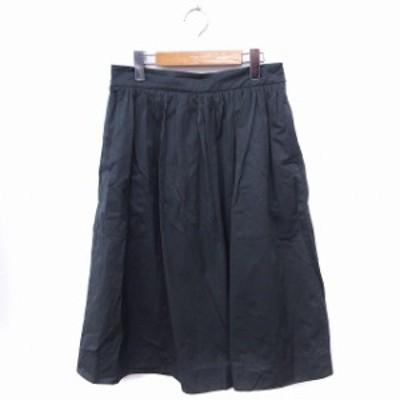 【中古】ザラウーマン ZARA WOMAN スカート ギャザー ロング 無地 シンプル M カーキ /FT2 レディース