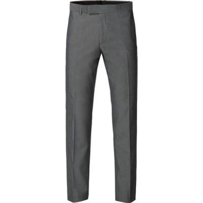 ライムハウス Limehaus メンズ スラックス ボトムス・パンツ harry plain silver grey tonic trousers Grey