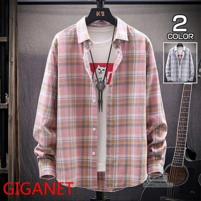 シャツメンズチェックシャツカジュアルシャツ20代30代長袖シャツチェック柄おしゃれメンズシャツ