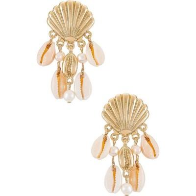 エティカ Ettika レディース イヤリング・ピアス ジュエリー・アクセサリー Shell Statement Earrings Gold