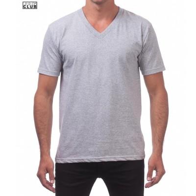 メンズ プロクラブ PRO CLUB コンフォート COMFORT V T SHIRT  半袖 V ネック tシャツ 106H HGREY  S-M-L