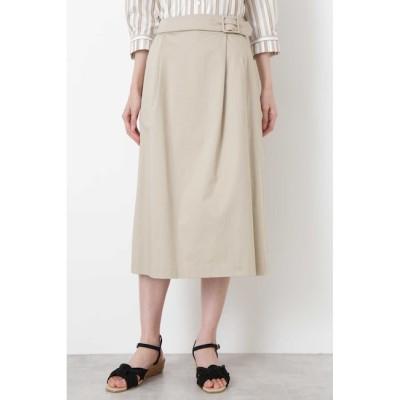 【ヒューマンウーマン/HUMAN WOMAN】 ◆スラブサテンタンブラースカート