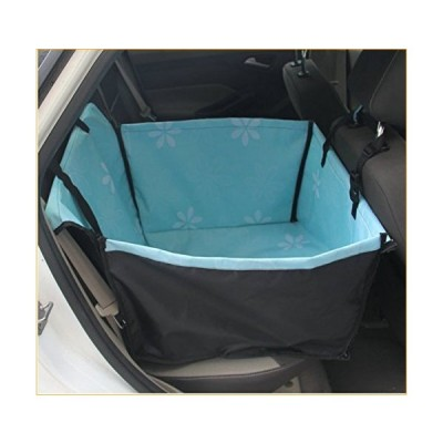 Yiyida Dog Car Seat Cover Non-Slip Waterproof Durable Oxford Cloth Soft Pet Car Seat Cover Back Seat Covers Hammock for Cars, Trucks, SUVs (Blue) 並