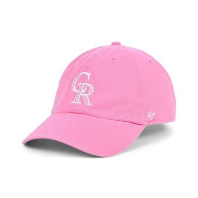 47ブランド レディース 帽子 アクセサリー Colorado Rockies Pink CLEAN UP Cap