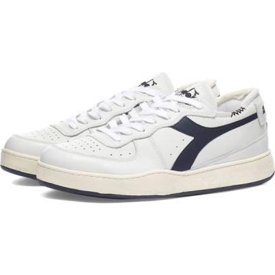 ディアドラ Diadora メンズ スニーカー シューズ・靴 mi basket row cut White/Corsair