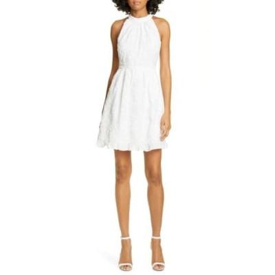 テッドベーカー レディース ワンピース トップス Lorene Embroidered Halter Neck Mini Dress WHITE