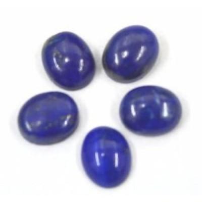 【お取り寄せ】ラピスラズリ 16.61 CTS. WHOLESALE LOT BLUE LAPIS LAZULI 8X10 MM OVAL CABOCHON 5 P. LPR50