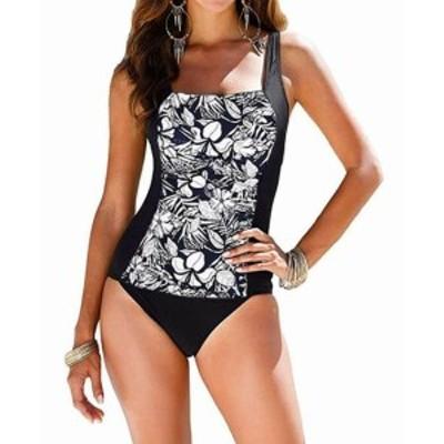 スポーツ用品 スイミング Upopby NEW Black White Womens Size 12 One-Piece Floral Printed Swimwear #527