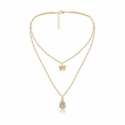 Dainty Multilayer Chain Necklace Gold Plated Lucky Evil Eye Pearl Cross Moon Star Lightning Link Necklace Jewelry for Women-Butt