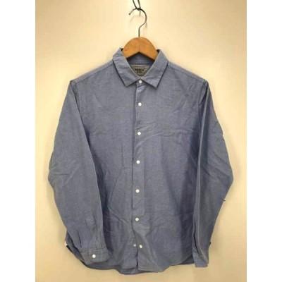 ヤエカ YAECA STUDY スナップボタン コットン長袖シャツ メンズ S 中古 210416