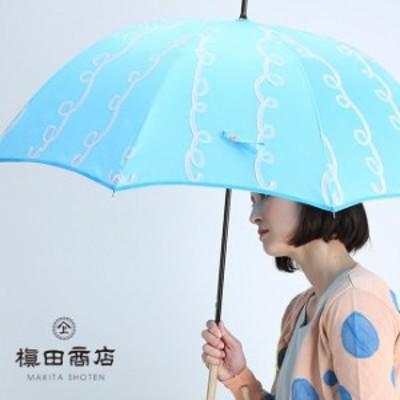 槙田商店 fusion 雨傘 GURUGURU 水色×ピンク 8本骨 手開き(レディース ブランド frankygrow 傘 おしゃれ 長傘 晴雨兼用)【S】