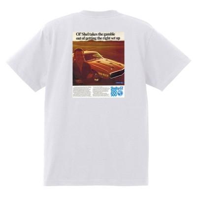 アドバタイジング フォード 722 白 Tシャツ 黒地へ変更可  1969 サンダーバード トリノ フェアレーン マスタング シェルビー