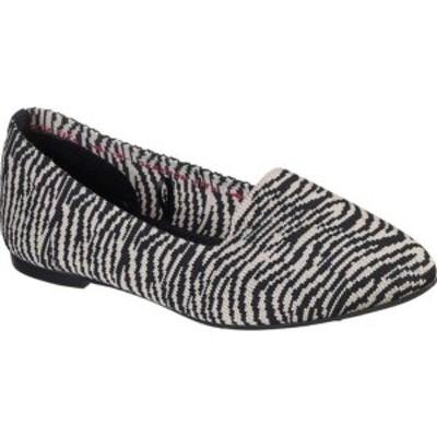 スケッチャーズ レディース サンダル シューズ Cleo Knitty Kitty Flat Natural/Black