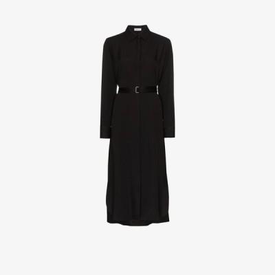 ロゼッタゲティー Rosetta Getty レディース ワンピース シャツワンピース ワンピース・ドレス belted midi shirt dress black