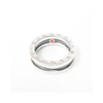 【中古】ブルガリ BVLGARI セーブザチルドレン SV 925 シルバー セラミック リング 指輪 シルバー ブラック 12.5号 ☆AA★ 1026 レディース 【ベクトル 古着】