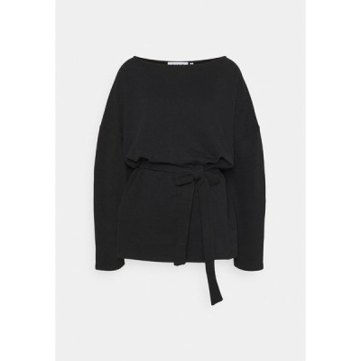 ヌー イン パーカー・スウェットシャツ レディース アウター BELTED LONG SLEEVE - Sweatshirt - black