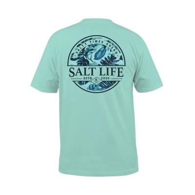 ソルトライフ Tシャツ トップス メンズ Men's Paradise Seas Pocket Tee Aruba Blue