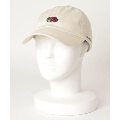 帽子 キャップ 【FRUIT OF THE LOOM/フルーツオブザルーム】LINEN LOGO EMB LOW CAP/刺繍ロゴローキャップ