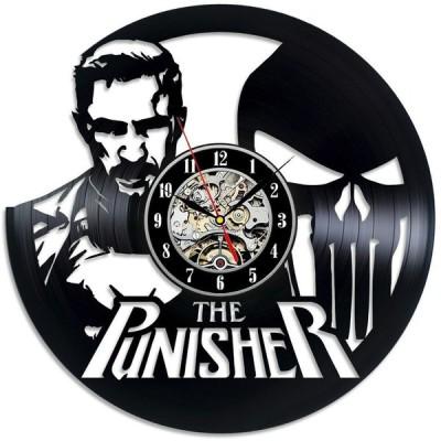 掛け時計 The Punisher Retro Lp Vinyl Record Handmade Wall Clock Large Gift For Boy