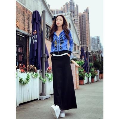 ロング丈フレアスカート マキシスカート 春物 韓国ファッション