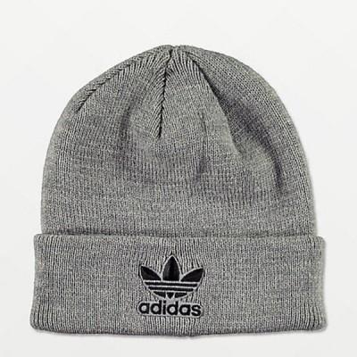 Adidas/アディダス adidas メンズ ニット帽 ビーニー グレー Trefoil Grey Beanie