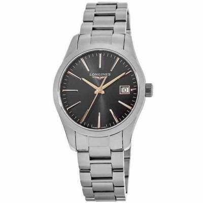 ロンジン 腕時計 New Longines Conquest Classic クラシック Black Dial Stainless レディース Watch L2.386.4.52.6