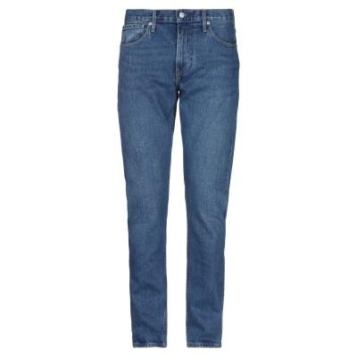 YOOX - CALVIN KLEIN JEANS ジーンズ ブルー 30W-32L コットン 99% / ポリウレタン 1% ジーンズ
