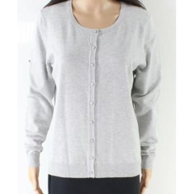 ファッション トップス Premise NEW Gray Womens Size Medium M Button Down Cardigan Sweater