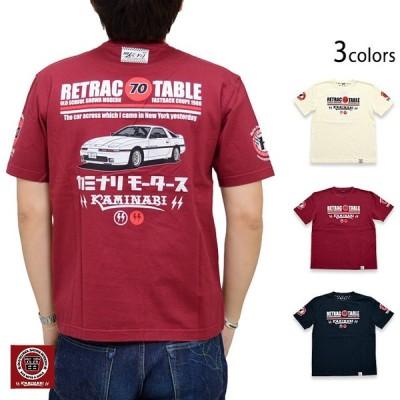 RETRACTABLE 70半袖Tシャツ カミナリ KMT-200 昭和 レトロ カミナリモータース 雷 初代70スープラ 旧車
