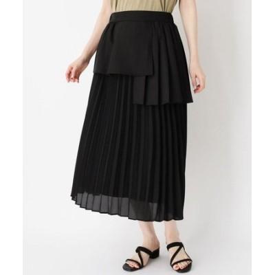 レーヤード風プリーツ切り替えスカート
