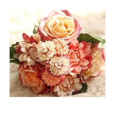 造花 インテリア 花束 ブーケ 手作り 枯れない花 ウェディング 飾り 撮影 プレゼント ギフト 人工観葉植物 美術館 ホーム 庭園 キッチ