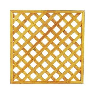 タカショー エコランドガーデンラティス ナチュラル 900×900