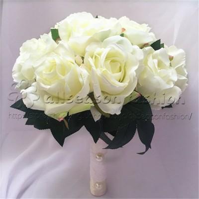 ウエディングブーケ ブートニア リストブーケ 花束 花飾り 結婚式 バラ造花 手首の花 花嫁 披露宴 手作り キット ブライダルブーケ