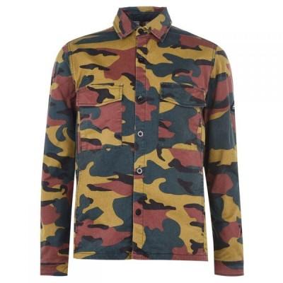 ペンフィールド Penfield メンズ シャツ オーバーシャツ トップス Camouflage Over Shirt Olive