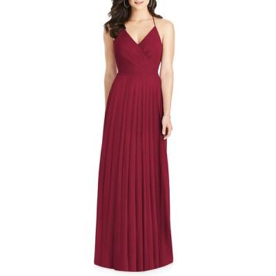 ドレッシーコレクション レディース ワンピース トップス Lux Chiffon Halter Gown with Ruffle Details